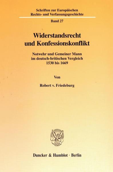 Widerstandsrecht und Konfessionskonflikt. - Coverbild