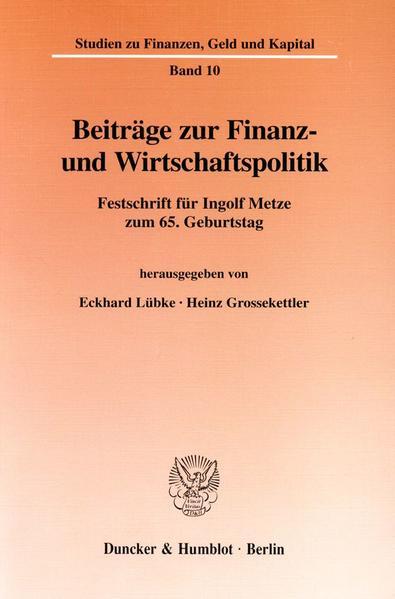 Beiträge zur Finanz- und Wirtschaftspolitik. - Coverbild