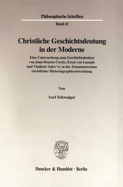 Christliche Geschichtsdeutung in der Moderne. - Coverbild