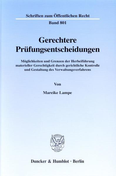 Gerechtere Prüfungsentscheidungen. - Coverbild