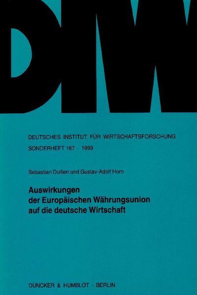 Auswirkungen der Europäischen Währungsunion auf die deutsche Wirtschaft. - Coverbild