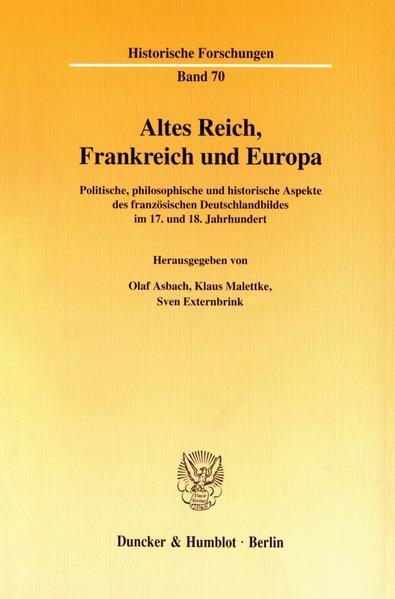 Altes Reich, Frankreich und Europa. - Coverbild