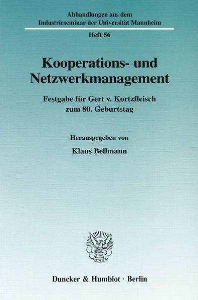 Kooperations- und Netzwerkmanagement. - Coverbild