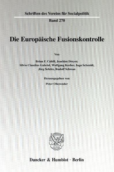 Die Europäische Fusionskontrolle. - Coverbild
