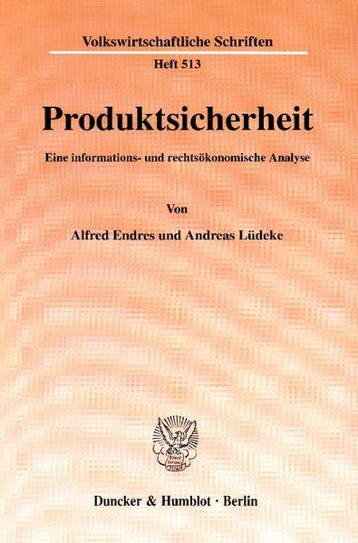 Produktsicherheit. - Coverbild