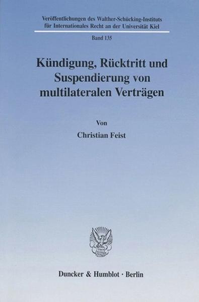 Kündigung, Rücktritt und Suspendierung von multilateralen Verträgen. - Coverbild