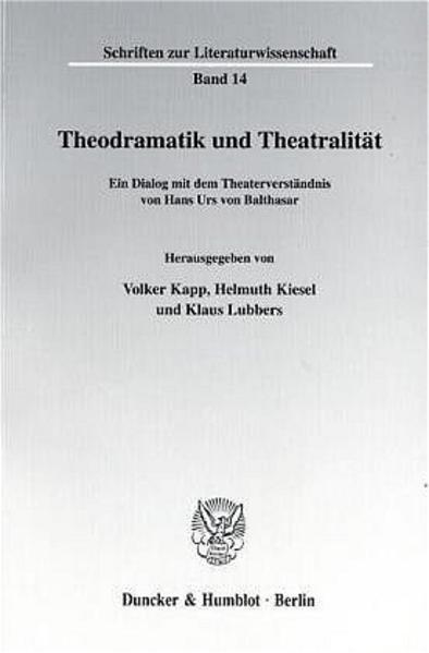 Theodramatik und Theatralität. - Coverbild