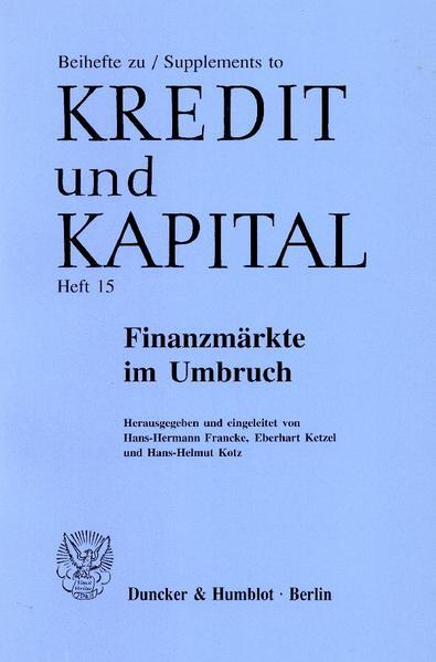 Finanzmärkte im Umbruch. - Coverbild