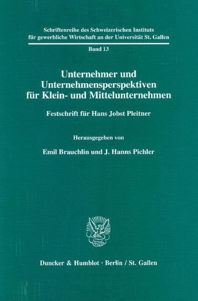 Unternehmer und Unternehmensperspektiven für Klein- und Mittelunternehmen. - Coverbild