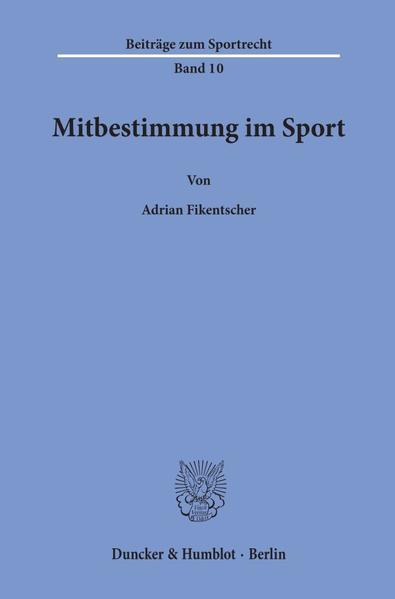 Mitbestimmung im Sport. - Coverbild
