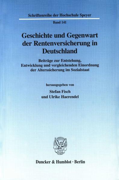 Geschichte und Gegenwart der Rentenversicherung in Deutschland. - Coverbild