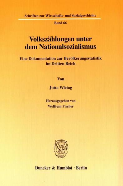Volkszählungen unter dem Nationalsozialismus. - Coverbild