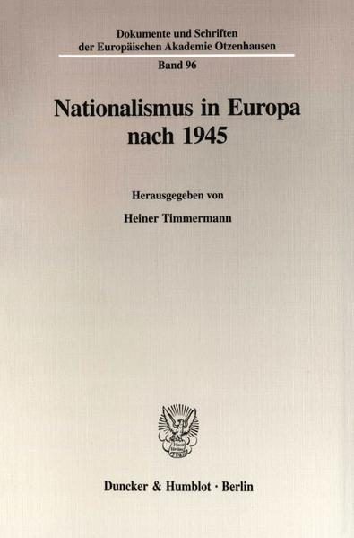 Nationalismus in Europa nach 1945. - Coverbild