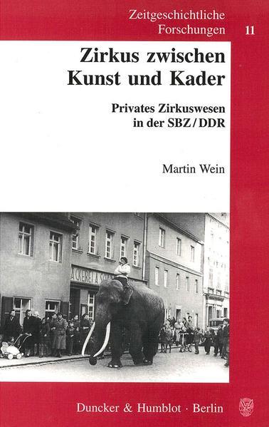Zirkus zwischen Kunst und Kader. - Coverbild