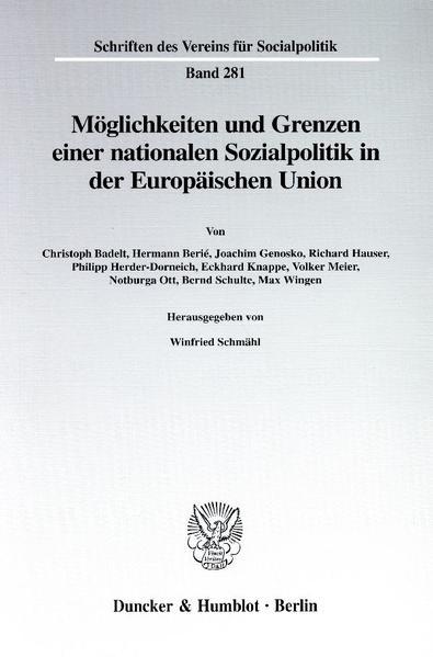 Möglichkeiten und Grenzen einer nationalen Sozialpolitik in der Europäischen Union. - Coverbild