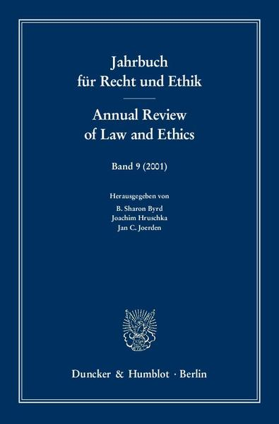 Jahrbuch für Recht und Ethik / Annual Review of Law and Ethics. - Coverbild