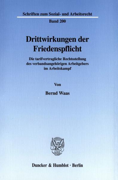 Drittwirkungen der Friedenspflicht. - Coverbild