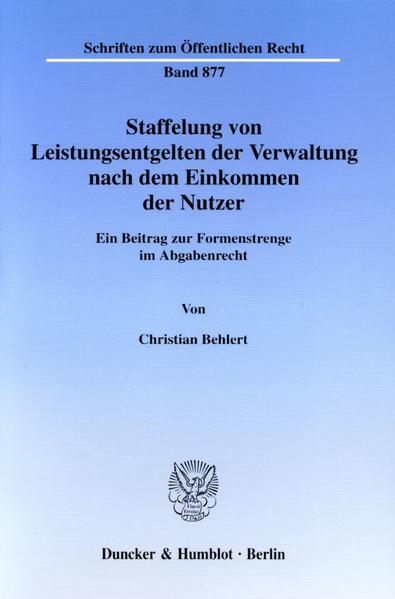 Staffelung von Leistungsentgelten der Verwaltung nach dem Einkommen der Nutzer. - Coverbild