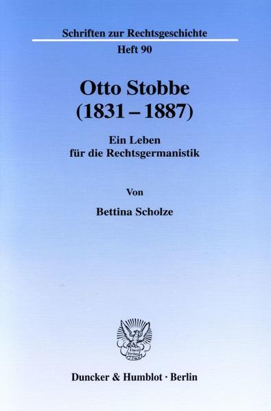 Otto Stobbe (1831-1887). - Coverbild