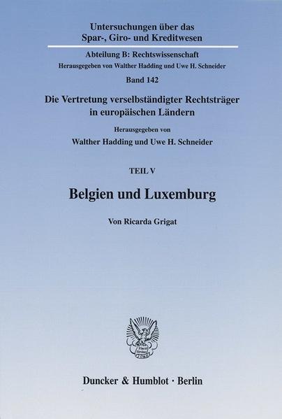 Belgien und Luxemburg. - Coverbild
