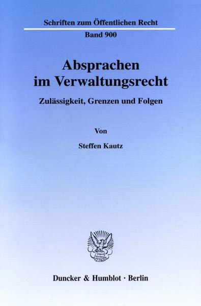 Absprachen im Verwaltungsrecht. - Coverbild
