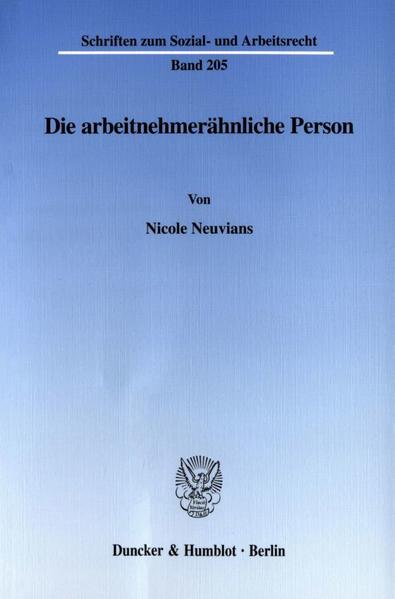 Die arbeitnehmerähnliche Person. - Coverbild