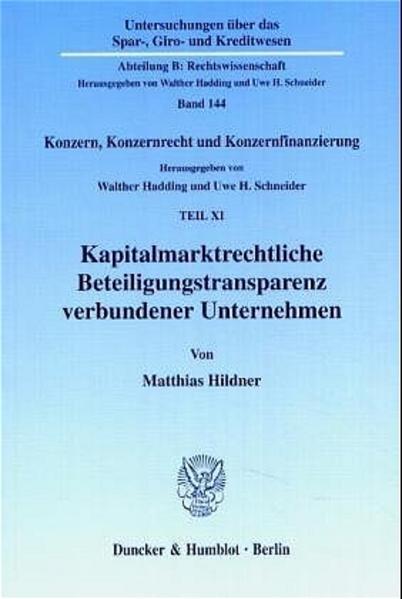 Kapitalmarktrechtliche Beteiligungstransparenz verbundener Unternehmen. - Coverbild