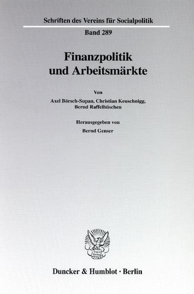 Finanzpolitik und Arbeitsmärkte. - Coverbild
