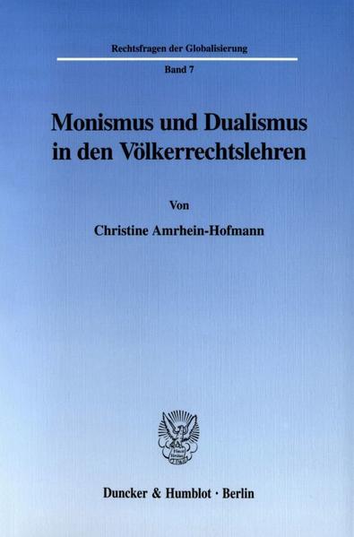 Monismus und Dualismus in den Völkerrechtslehren. - Coverbild