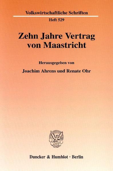 Zehn Jahre Vertrag von Maastricht. - Coverbild