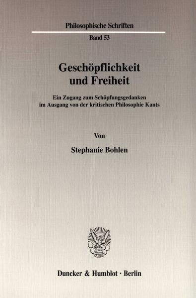 Geschöpflichkeit und Freiheit. - Coverbild