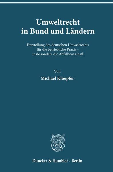 Umweltrecht in Bund und Ländern. - Coverbild