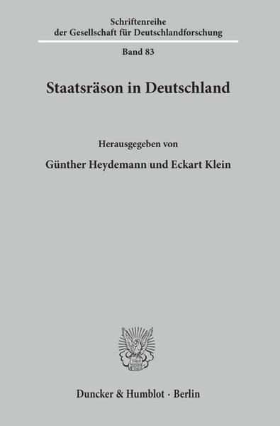Staatsräson in Deutschland. - Coverbild