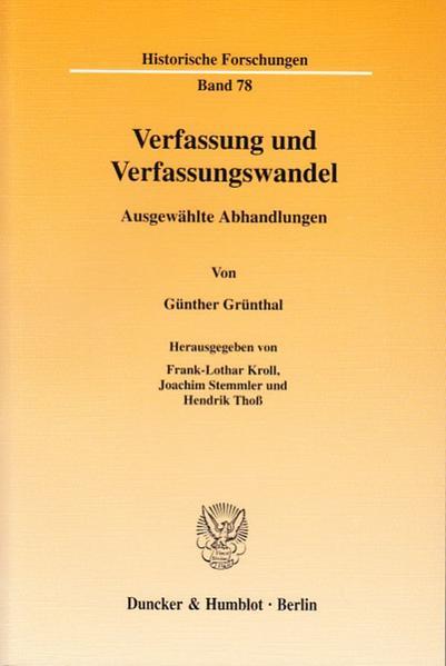 Verfassung und Verfassungswandel. - Coverbild