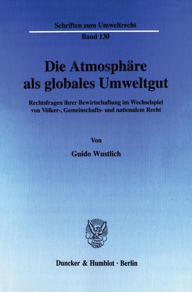 Die Atmosphäre als globales Umweltgut. - Coverbild