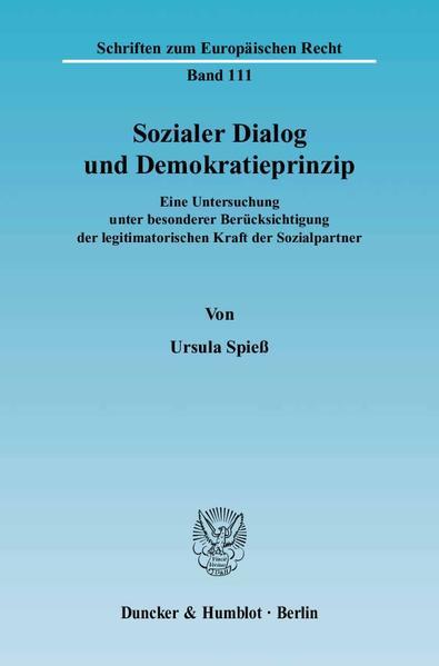 Sozialer Dialog und Demokratieprinzip. - Coverbild