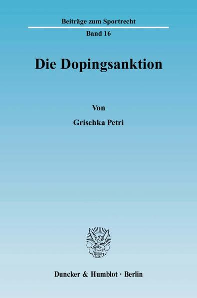 Die Dopingsanktion. - Coverbild