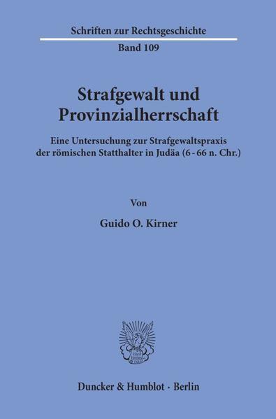 Strafgewalt und Provinzialherrschaft. - Coverbild