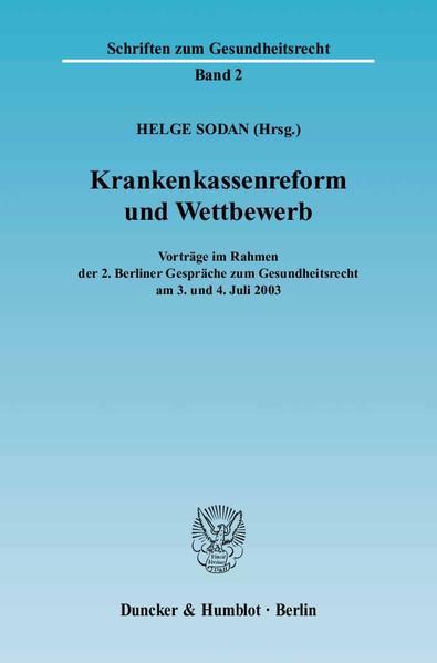 Krankenkassenreform und Wettbewerb. - Coverbild