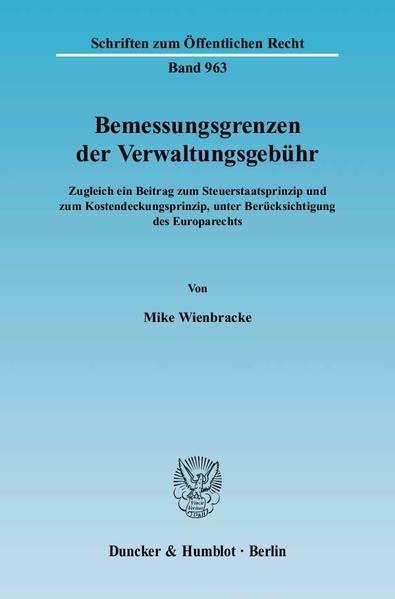 Bemessungsgrenzen der Verwaltungsgebühr. - Coverbild