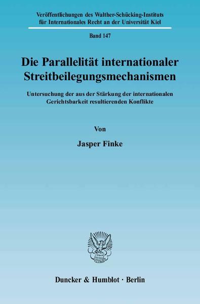 Die Parallelität internationaler Streitbeilegungsmechanismen. - Coverbild