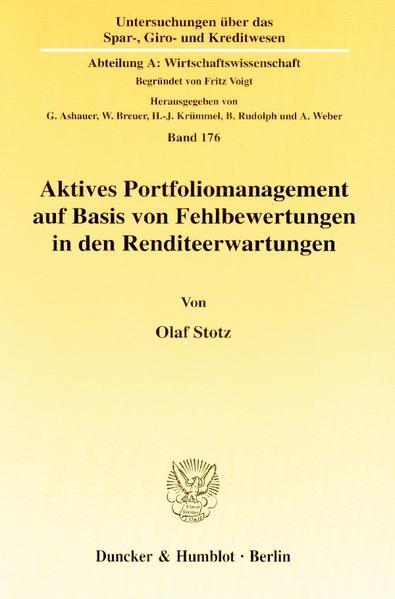 Aktives Portfoliomanagement auf Basis von Fehlbewertungen in den Renditeerwartungen. - Coverbild