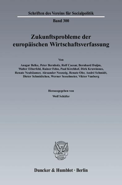 Zukunftsprobleme der Europäischen Wirtschaftsverfassung. - Coverbild