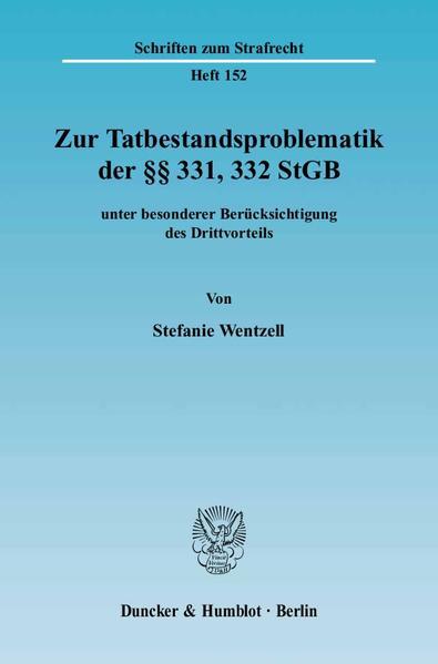 Zur Tatbestandsproblematik der §§ 331, 332 StGB - Coverbild