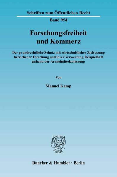 Forschungsfreiheit und Kommerz. - Coverbild