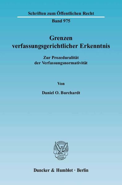 Grenzen verfassungsgerichtlicher Erkenntnis. - Coverbild