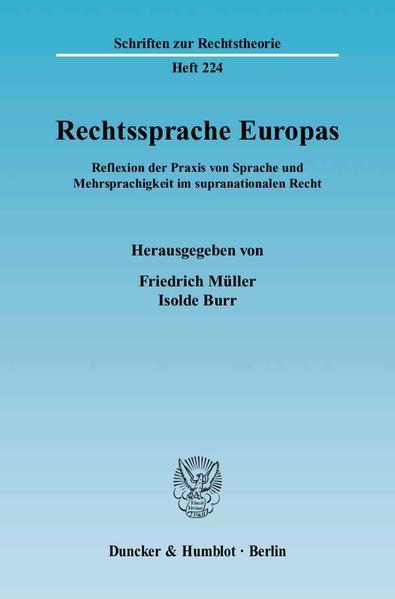 Rechtssprache Europas. - Coverbild
