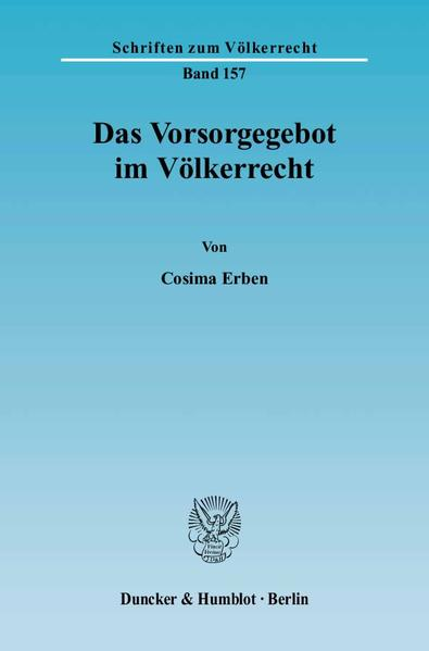 Das Vorsorgegebot im Völkerrecht. - Coverbild