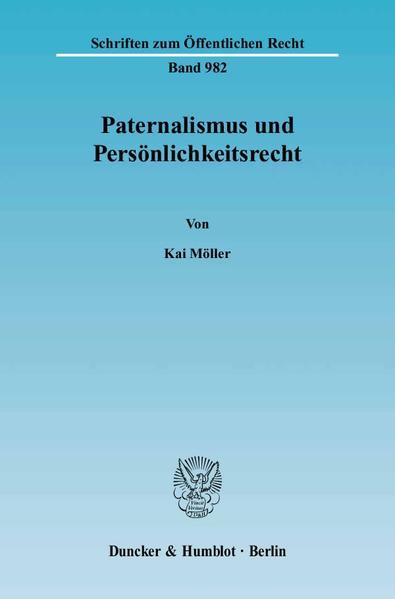 Paternalismus und Persönlichkeitsrecht. - Coverbild