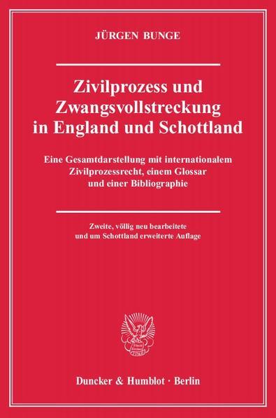 Zivilprozess und Zwangsvollstreckung in England und Schottland. - Coverbild